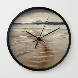 Beach and Mountains Wall Clock