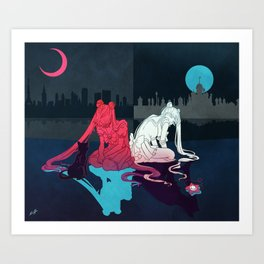 Great Responsibility - Sailor Moon Art Print