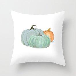 Colorful pumpkin trio Throw Pillow
