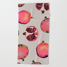 Pomegranate Pattern Beach Towel