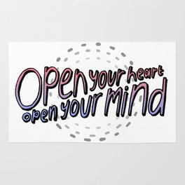 open your heart / open your mind Rug