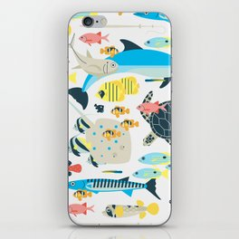 Coral reef animals iPhone Skin