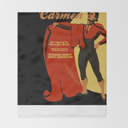 Carmen Opera (Toreador) Throw Blanket