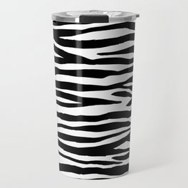 Zebra StripesPattern Black And White Travel Mug