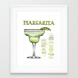 The Drink Collective: Margarita Framed Art Print