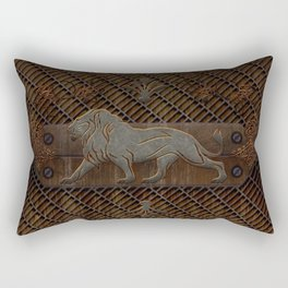 Steampunk lion Rectangular Pillow
