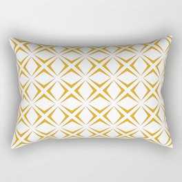 Diamonds in Ochre Rectangular Pillow
