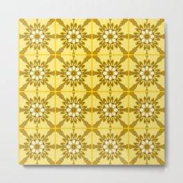 Yellow azulejos Metal Print
