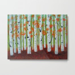 Atumn Birch trees - 5 Metal Print