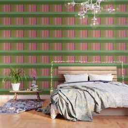 Green and pink color story Wallpaper