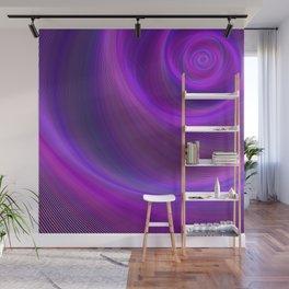 Purple night storm Wall Mural