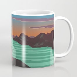 Fjords and mountains. Coffee Mug