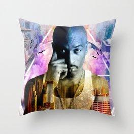 Rakim TheGod MC Throw Pillow