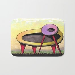 Retro Spaceship Architectural Design 55 Bath Mat