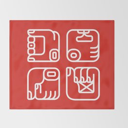 Mayan Glyphs ~ Hands Throw Blanket