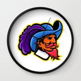 Cavalier Head Mascot Wall Clock