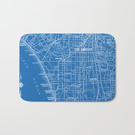 Los Angeles Street Map Bath Mat