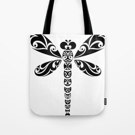 Tribal Dragonfly Tattoo Tote Bag