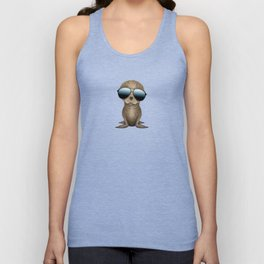 Cute Baby Seal Wearing Sunglasses Unisex Tank Top