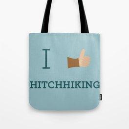 I heart Hitchhiking Tote Bag