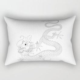 "Chineese ""Lung"" Dragon Rectangular Pillow"