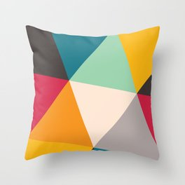 Geometric Triangles Throw Pillow