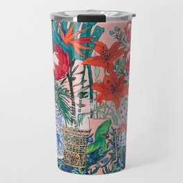 The Domesticated Jungle - Floral Still Life Travel Mug