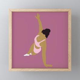 Fitness is a Game Framed Mini Art Print