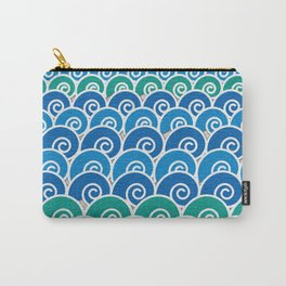 Blue Beach Waves Carry-All Pouch