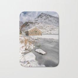 Frozen Lake Snowdonia Bath Mat