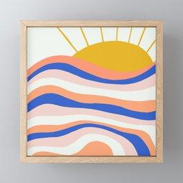 sunrise surf Framed Mini Art Print