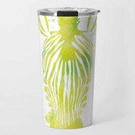 Watercolor Zebra Travel Mug