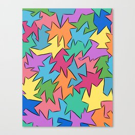 tetra-coloured leaves Canvas Print
