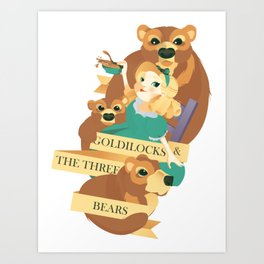 Goldilocks and the Three Bears Poster Art Print