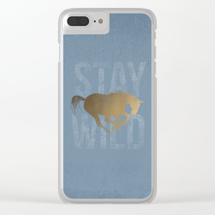 Horse (Stay Wild) Clear iPhone Case