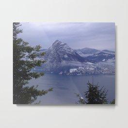 Lake Lugano Metal Print
