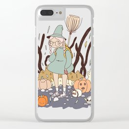 LOST ON THE WAY TO THE WITCH ACADEMY Clear iPhone Case