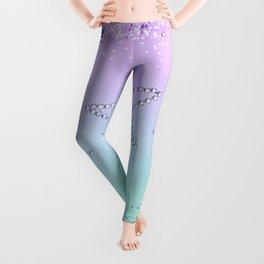 MERMAID Glitter Star #1 #decor #art #society6 Leggings