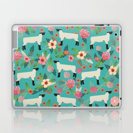 Show Lamb farm floral gifts homesteader farming sheep lamb animal Laptop & iPad Skin