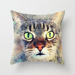 Cat Baxter #cat #cats #kitty Throw Pillow