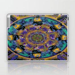 Purple Gold Dream Catcher Mandala Laptop & iPad Skin