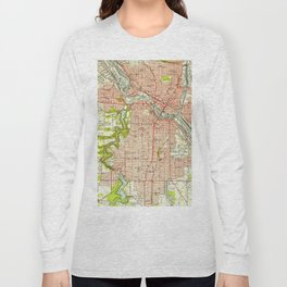 Vintage Map of Youngstown Ohio (1951) Long Sleeve T-shirt