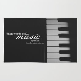 Music Speaks Rug
