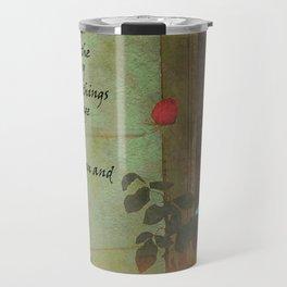Serenity Prayer Rose and Door Travel Mug