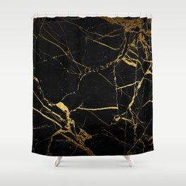 Black & Gold Shower Curtain