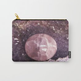 Amethyst and Pink Quartz Gemstone Carry-All Pouch