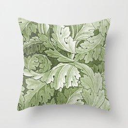 Celery Green Acanthus Plant Throw Pillow