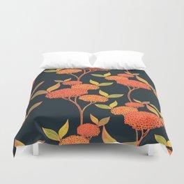 Orange autumn berries. Duvet Cover
