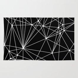 Black & White Geometric Web II Rug