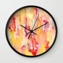 Dripping Watercolors Wall Clock